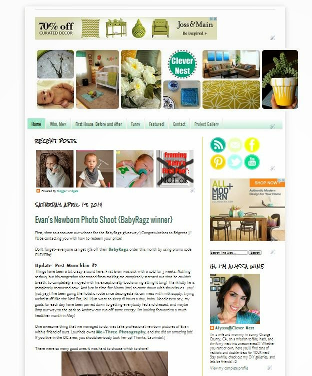 Check out my new look over at Clever Nest! #blogdesign #lecharmedboutique #graphicdesign
