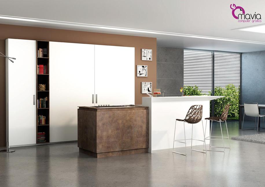 Rendering cucine 3d,arredamento di interni 3d,modelli 3d cucine