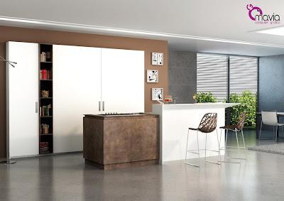 Arredamento di interni rendering cucine 3d arredamento di interni 3d modelli 3d cucine moderne - Sgabelli per cucina moderna ...