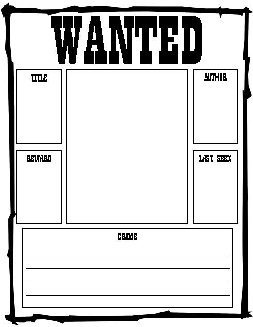Wanted poster book report project