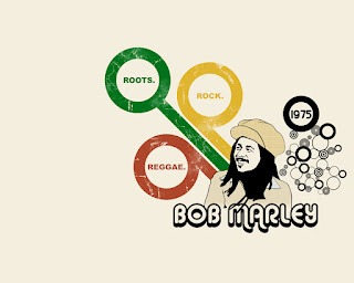 Bob Marley Roots Rock Reggae Design HD Wallpaper