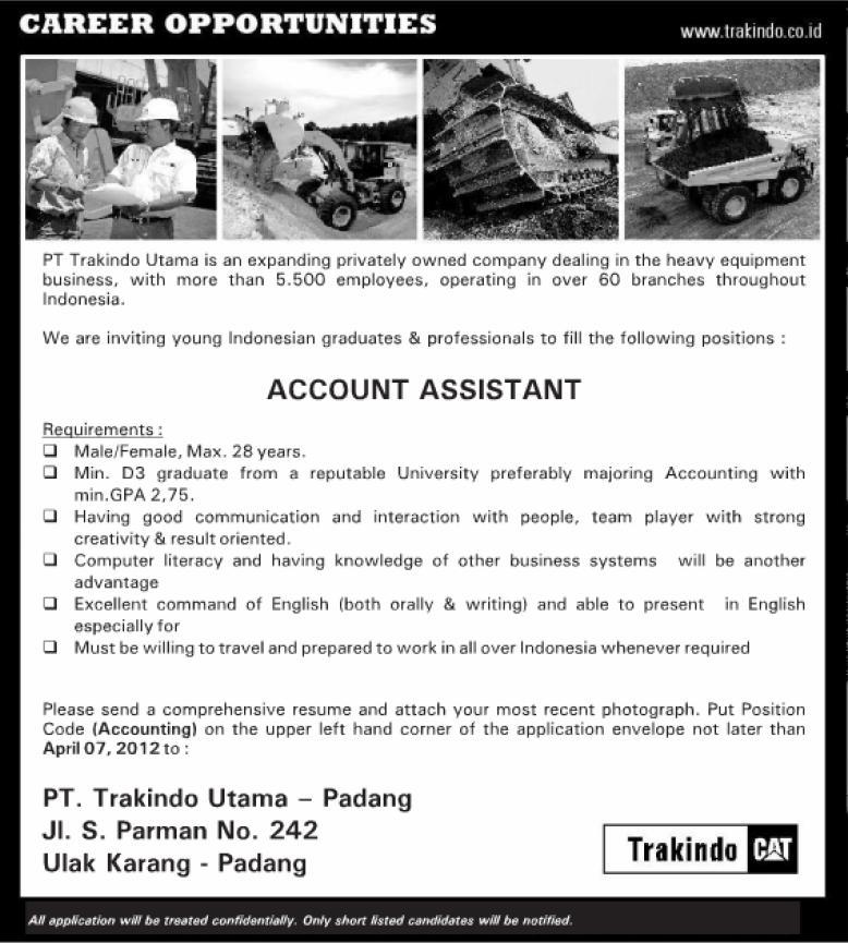 PT.Trakindo Utama (Padang) ~ Akses Kerja