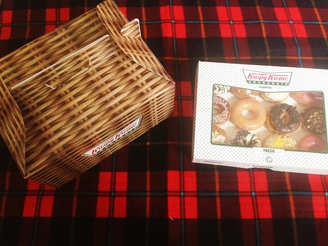 Krispy Kreme Hamper and Doughnuts