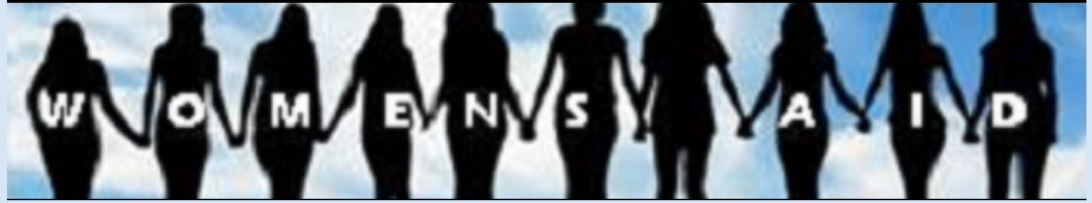 image - Women's Aid Banner -Sillouette Women standing hand in hand against cloud background linked to St. Andrews Fenelon Falls