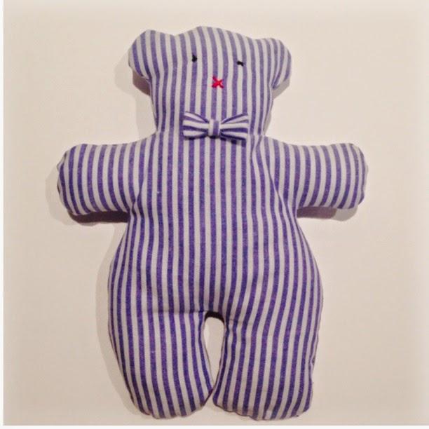 L 39 atelier dei sogni teddy bear orsetto di stoffa for Cartamodello papillon