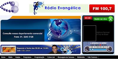 RÁDIO EVANGÉLICA FM 100,7- WWW.RADIOEVANGELICAFM.COM.BR