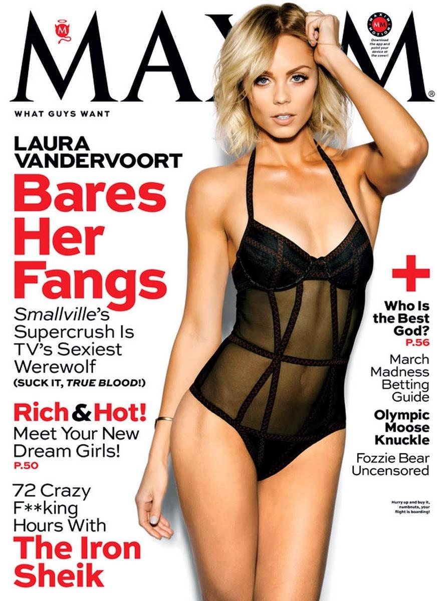 Laura Vandervoort en Maxim por el exito de Bitten