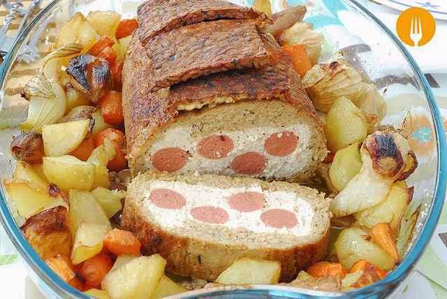 Asado vegano guarnición patatas verduras
