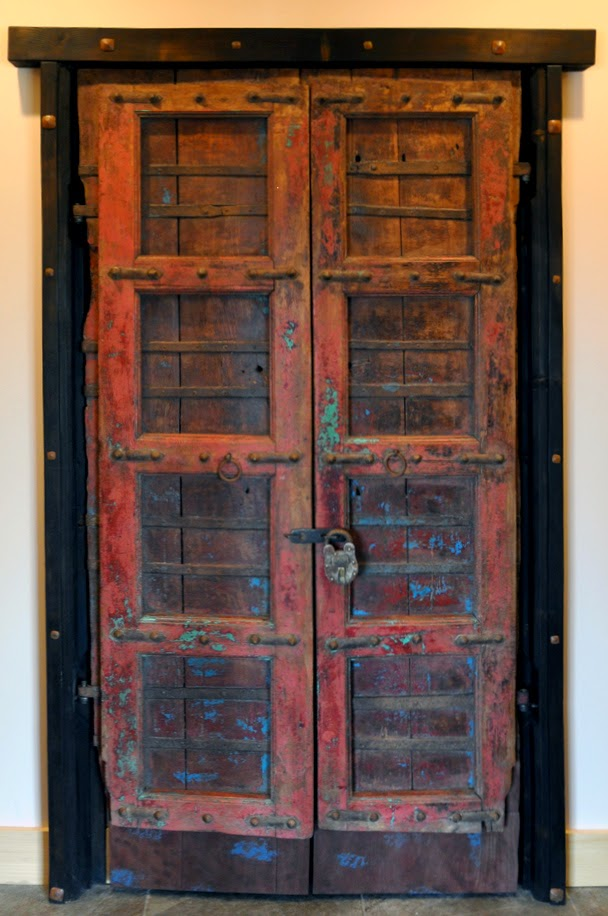... both doors; antique and color the frame; add the steel parts sam  fabricated to hold the lock and then take them back over and install them  permanently - Dorset Custom Furniture - A Woodworkers Photo Journal: A Pair Of