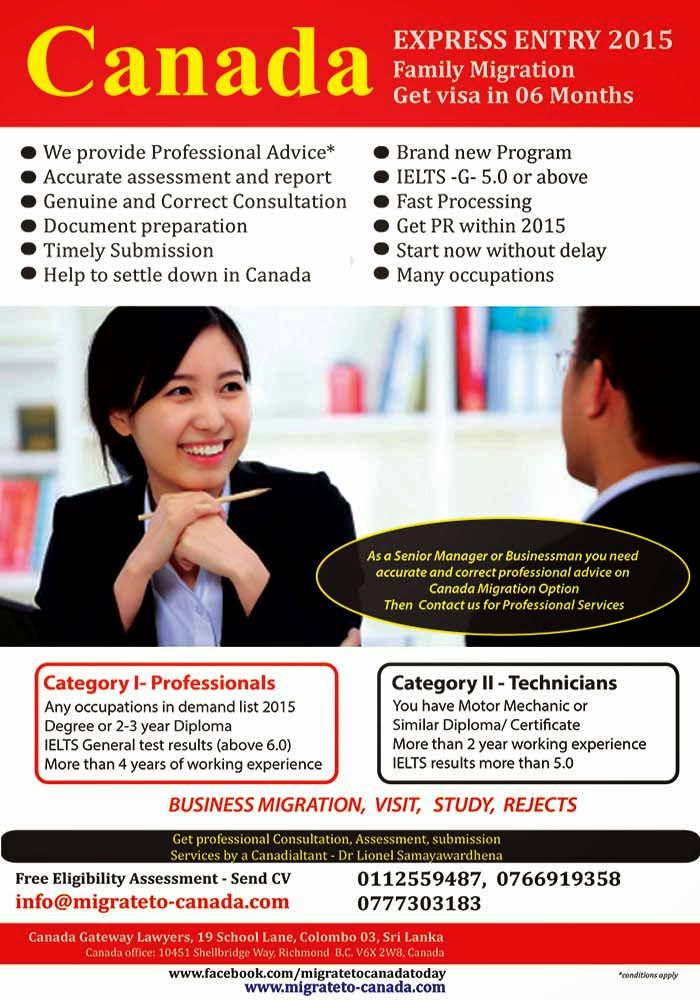 We provide a wide range of legal, consultation and advisory services to clients requiring moving to Canada. Our experts are from Canada and Sri Lanka. Our clients are highly satisfied with our services and we believe you are looking for quality, trust and guaranteed services. If you plan to move to Canada for studies, visit, travel or to live contact us for honest services