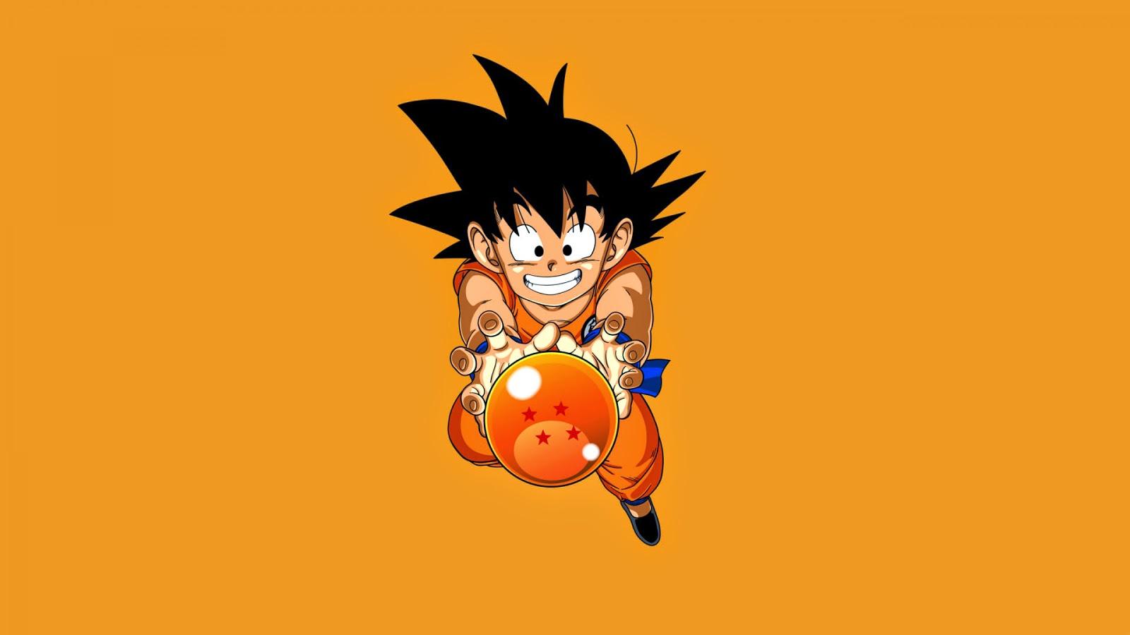 Papel de Parede Goku com Esfera do Dragão para pc 3d hd dbz wallpaper hd free