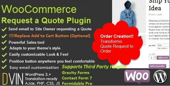 Free Download WooCommerce Request a Quote V2.26 Wordpress Plugin