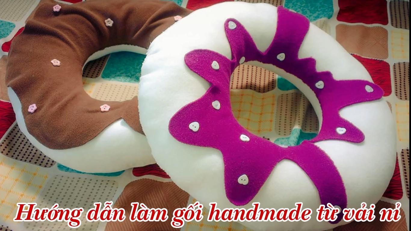 Hướng dẫn cách làm gối handmade từ vải nỉ Cách Làm gối handmade hình tròn hình chiếc bánh