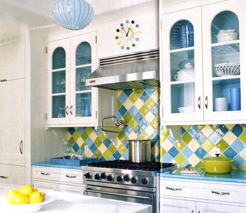 Sincerely Your Designs: Colorful Kitchens