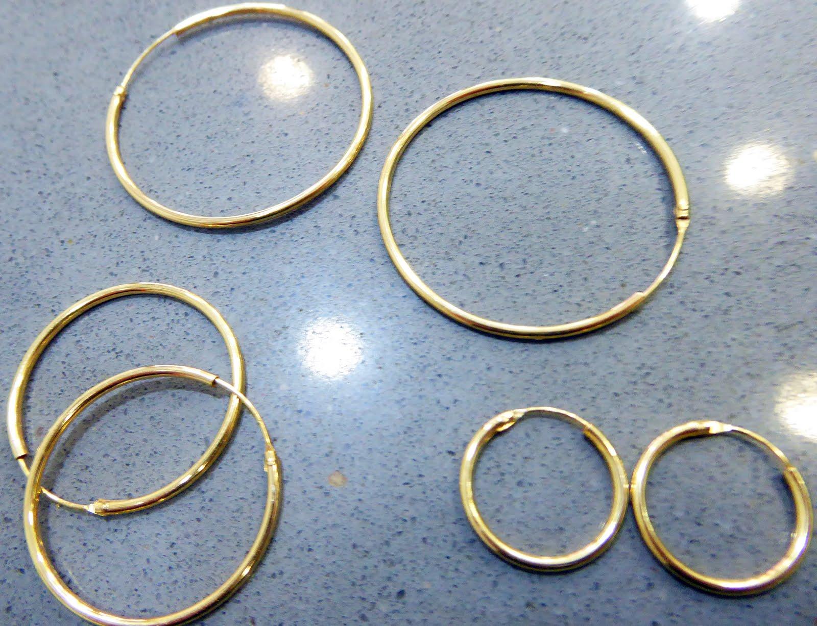 Pendientes de aro dorados