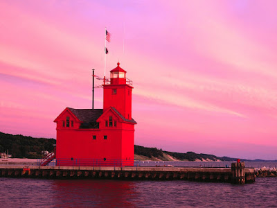 Red lighthouses wallpapers