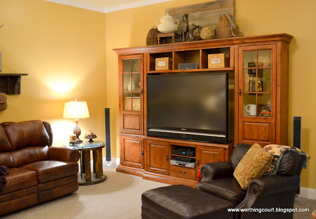Rustic entertainment center via Worthing Court blog
