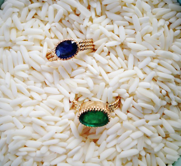 sapphire and emerald rings
