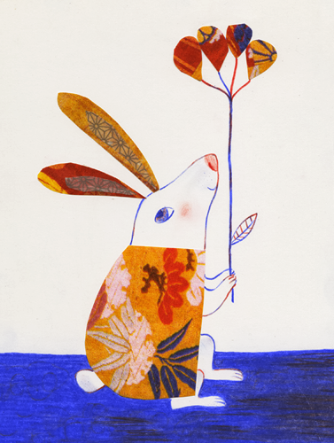 Get Well Collage Bunny by Diana Toledano