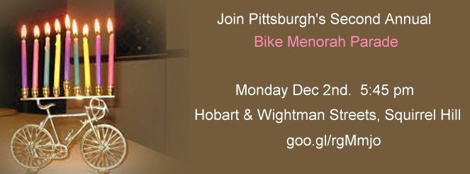Pittsburgh Bike Menorah Ride, Chanukah Parade, Chabad 2013