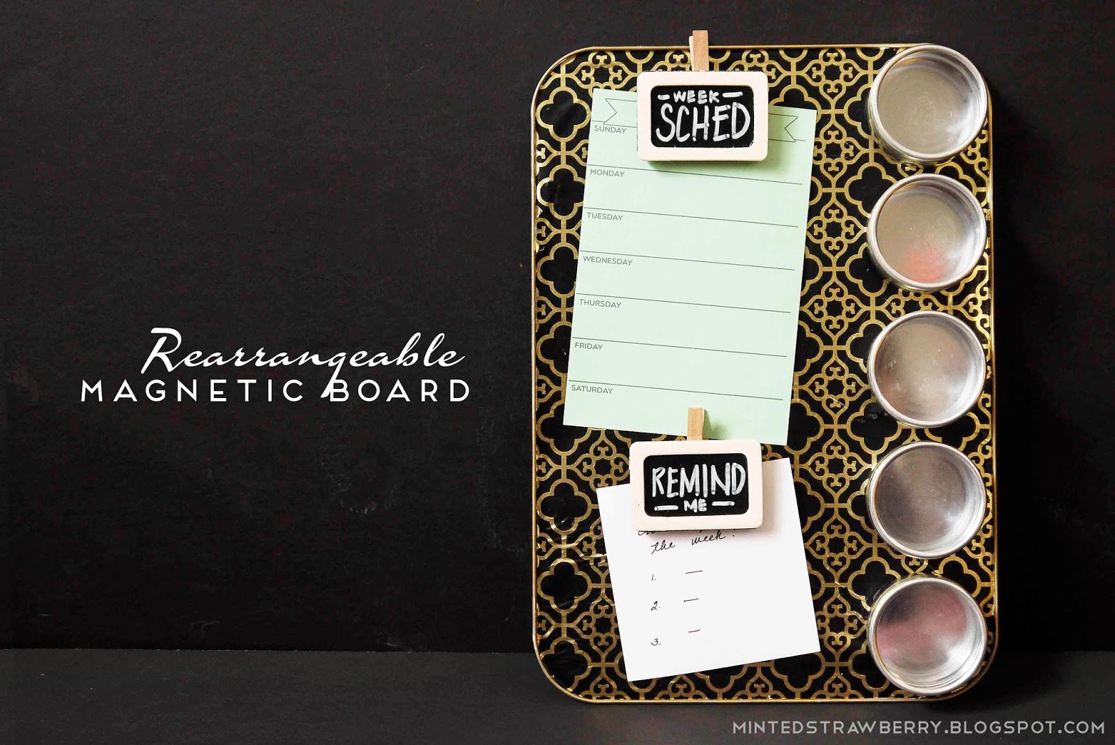 DIY: Rearrangeable Magnetic Board + A Consumer Crafts Prize Pack Giveaway!