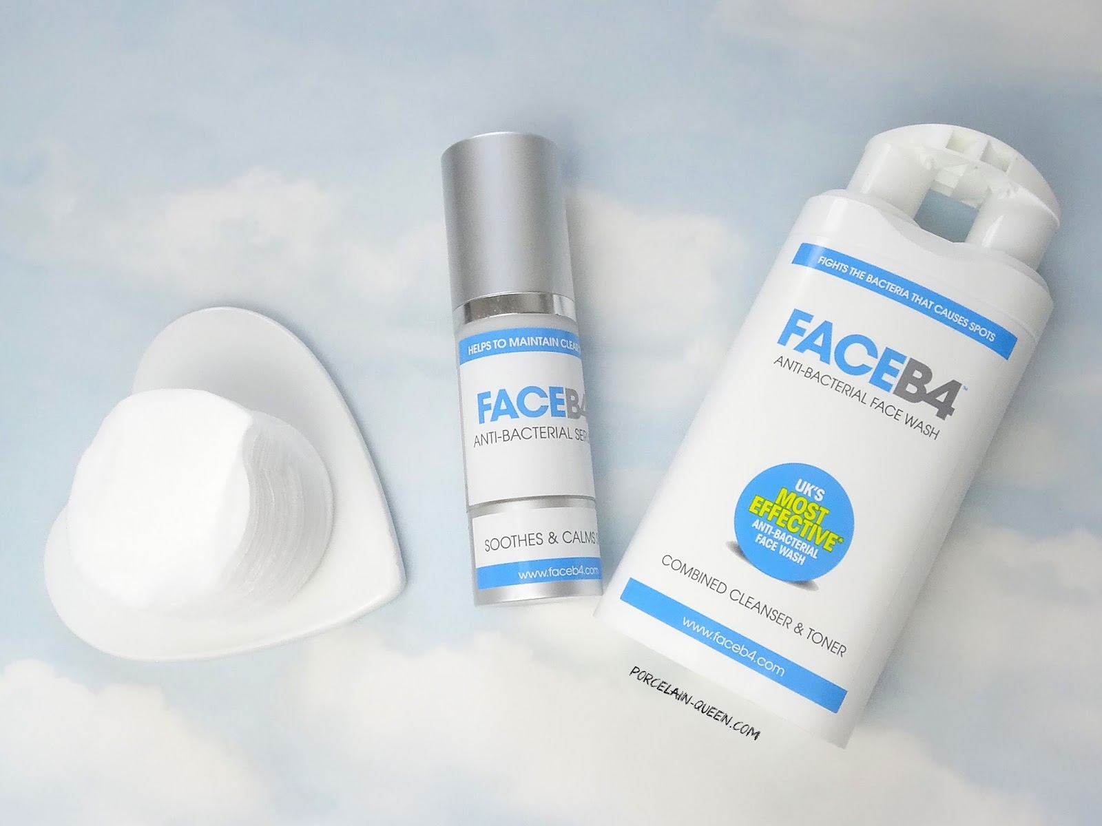 Face B4 Anti-Bacterial Face Wash and Serum