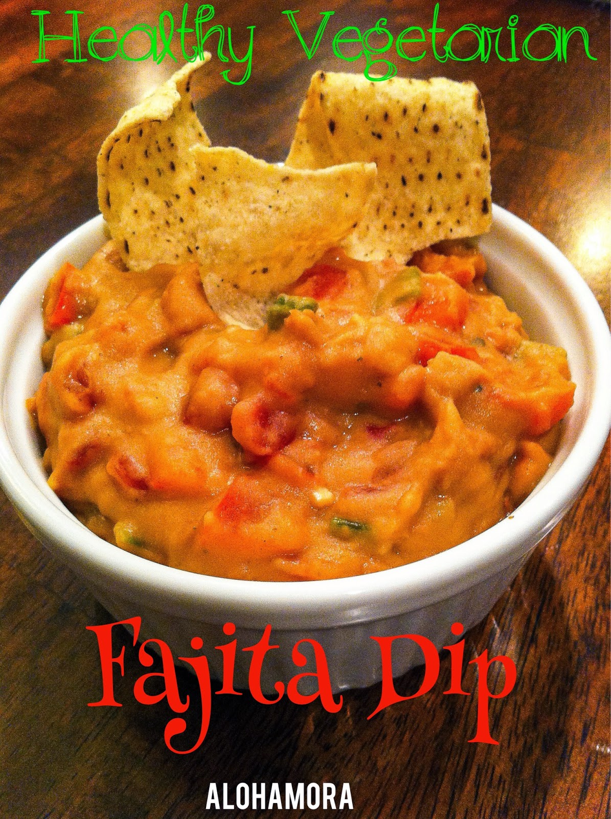 Healthy vegetarian Fajita Dip is easy to make, delicious, yummy, and perfect for any gathering. Plus it's gluten free.  Alohamora Open a Book http://alohamoraopenabook.blogspot.com/