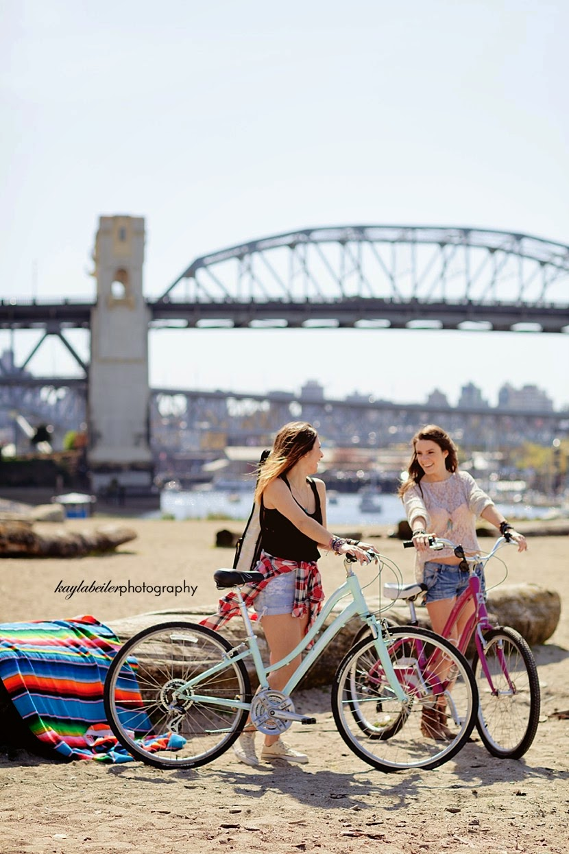 girls on cruiser bikes photo