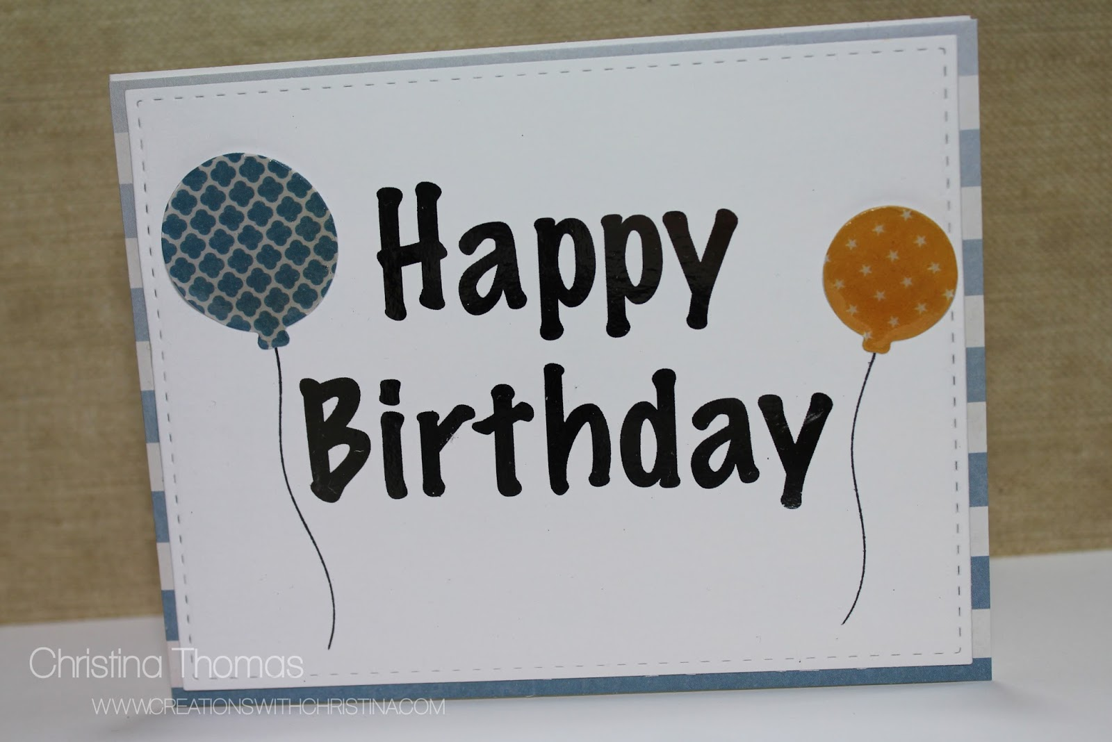 Foiled Birthday Card Creations With