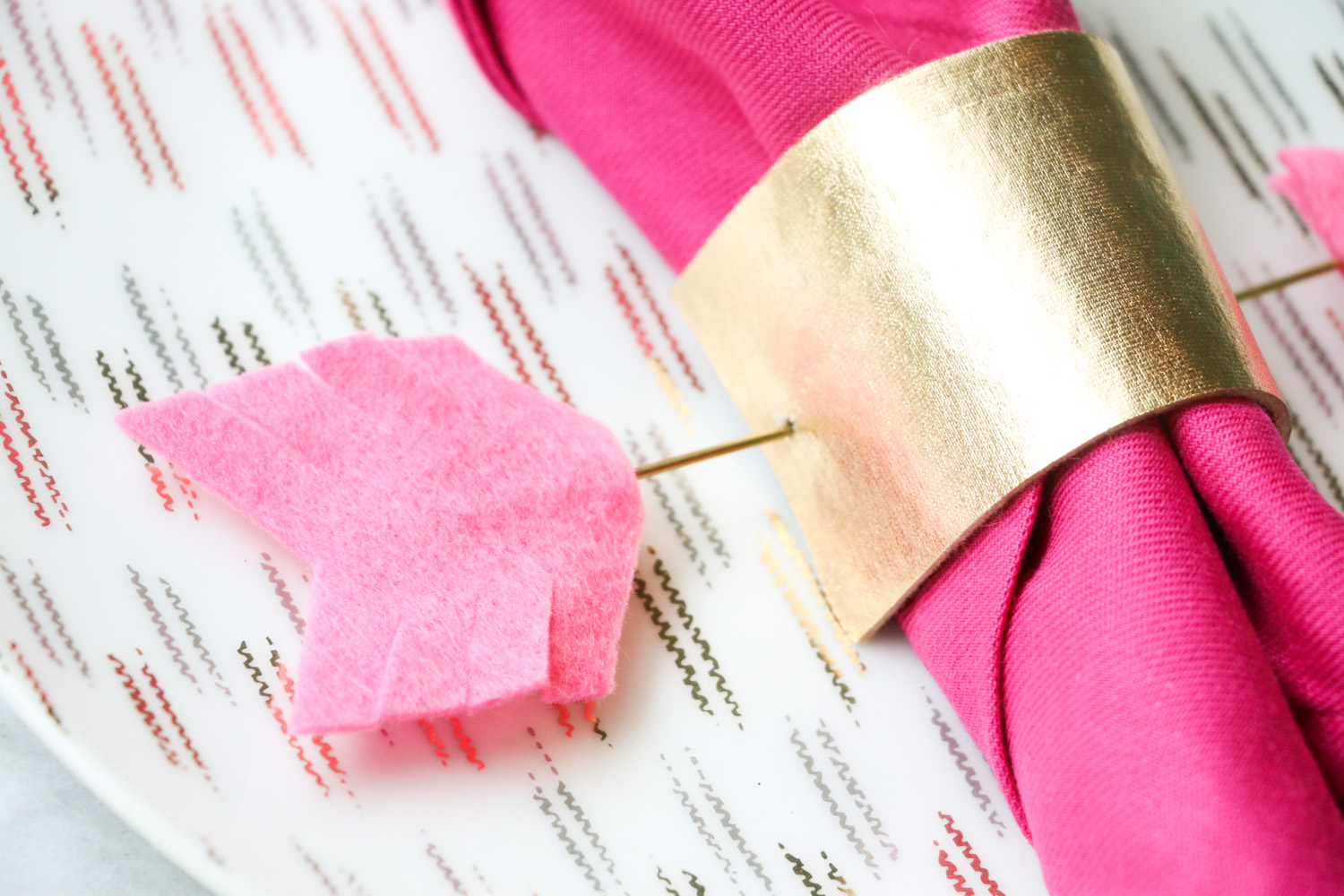 Craft It - Gold and Pink Arrow Napkin Rings - A Kailo Chic Life