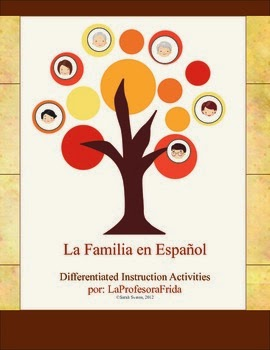 http://www.teacherspayteachers.com/Product/Spanish-Family-UNIT-La-Familia-Stations-Differentiated-Instruction-353829