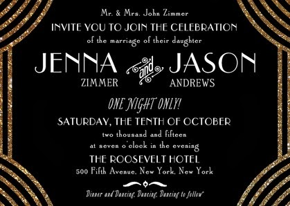 I got my party shoes on The Great Gatsby Party Invitations