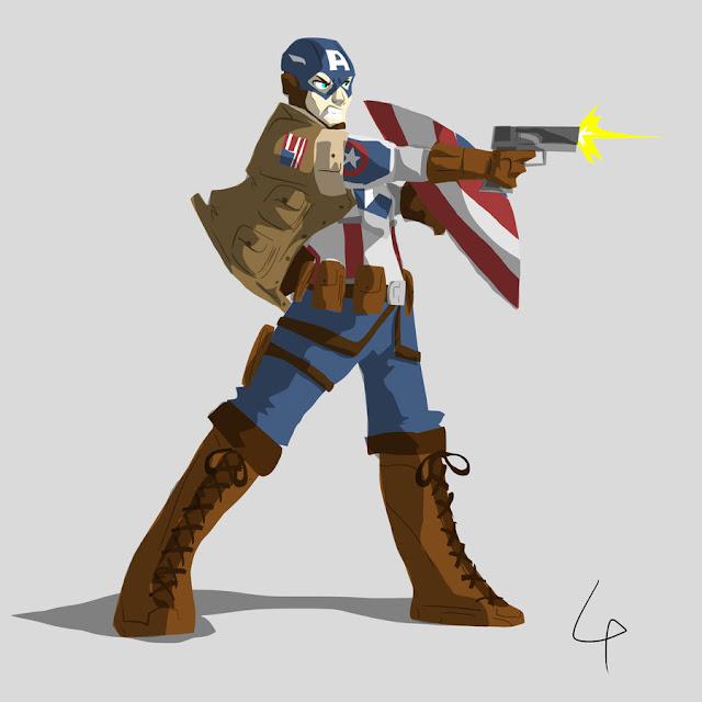 Captain America por AznNerd