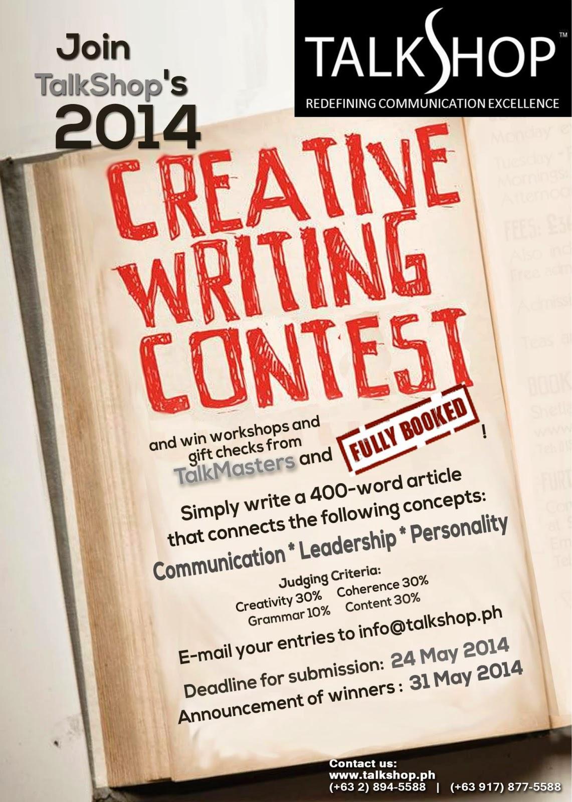 creative writing scholarship contests 2014