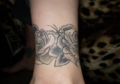 flower ankle tattoo design