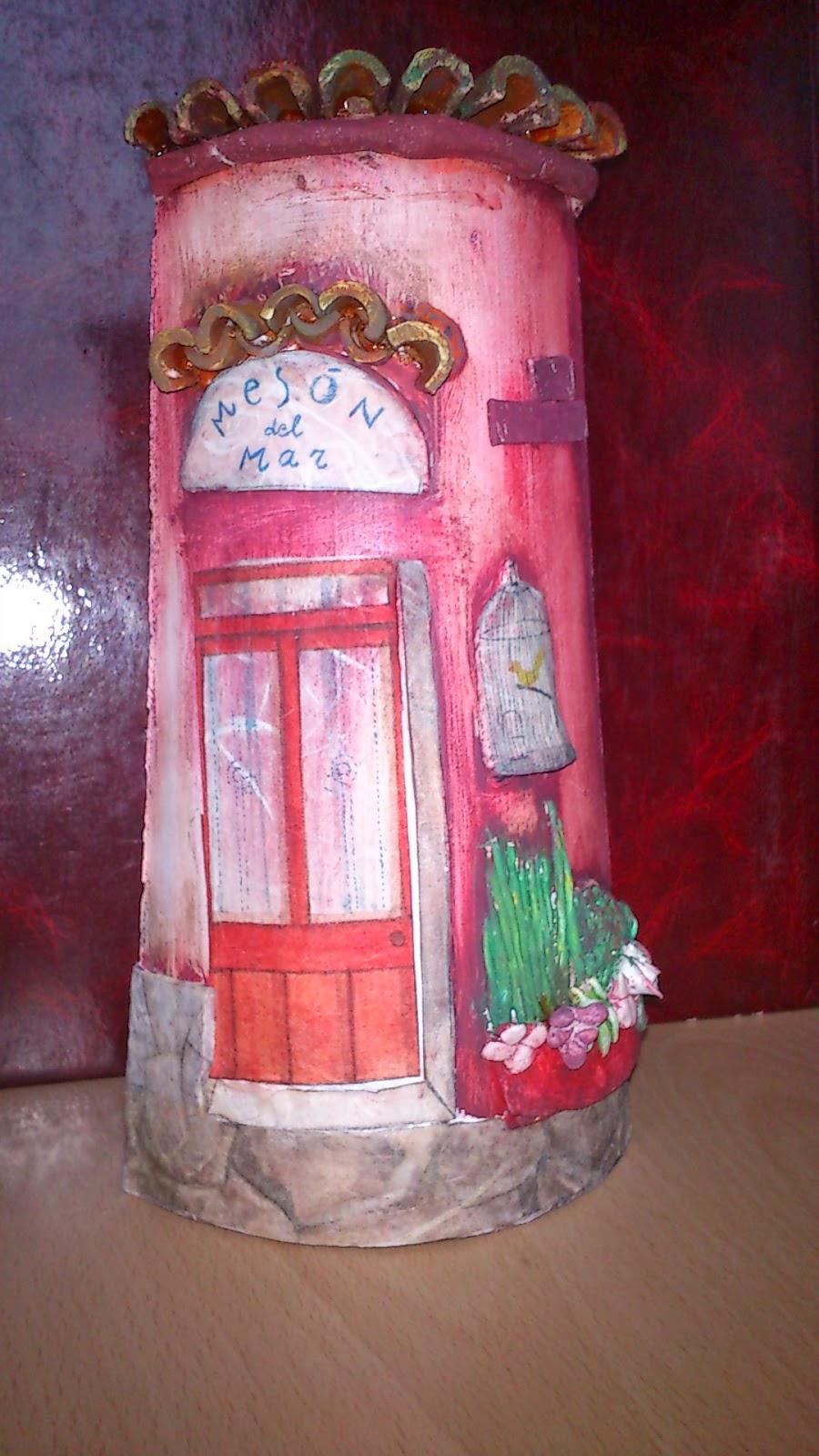 Manosmarisa como decorar una teja con papel de arroz y - Como decorar tejas rusticas ...