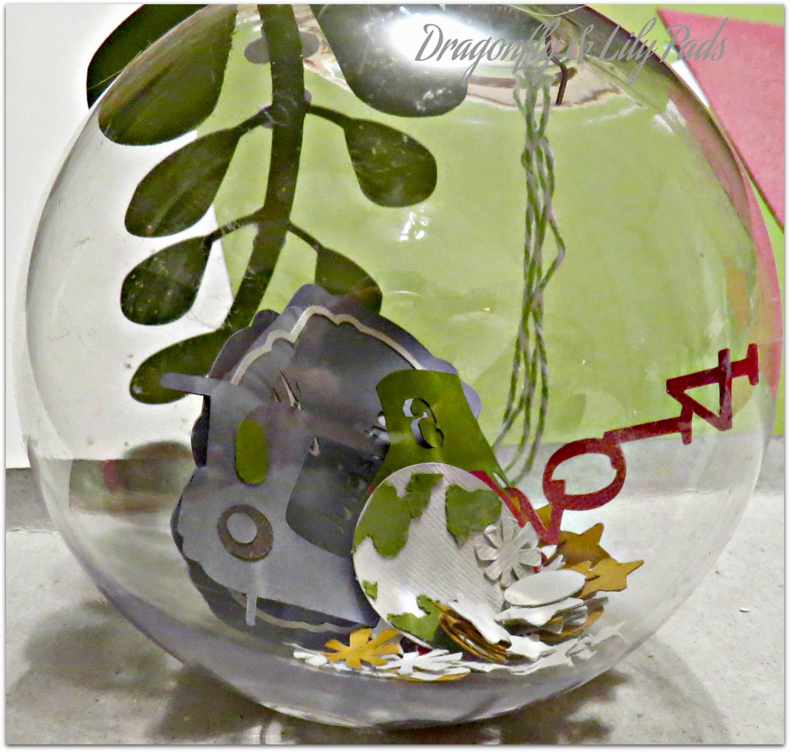 Plastic Christmas Clear ball, Memory shake ball Ornament