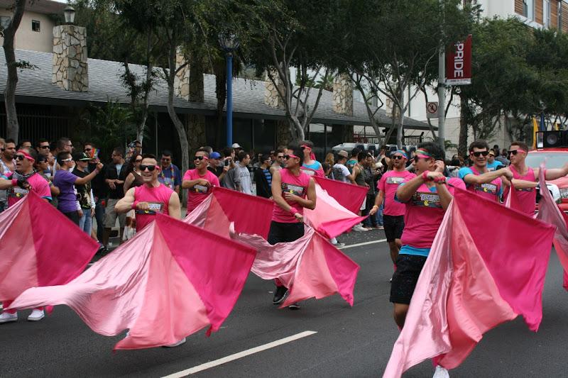 Gay Mens Chorus flag twirling WEHO Pride