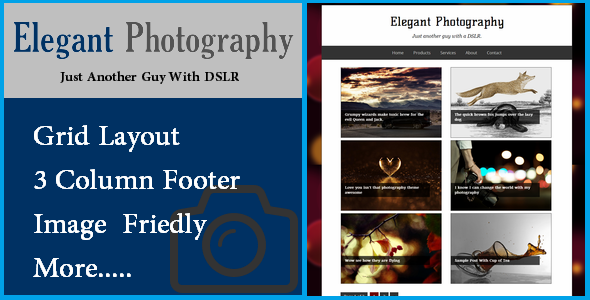 TEMPLATE ELEGANT PHOTOGRAPHY BLOGSPOT