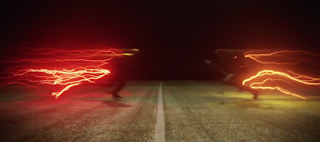 "The Flash taking on Reverse Flash from The Flash Season 1 Episode 9 ""The Man in the Yellow Suit"""