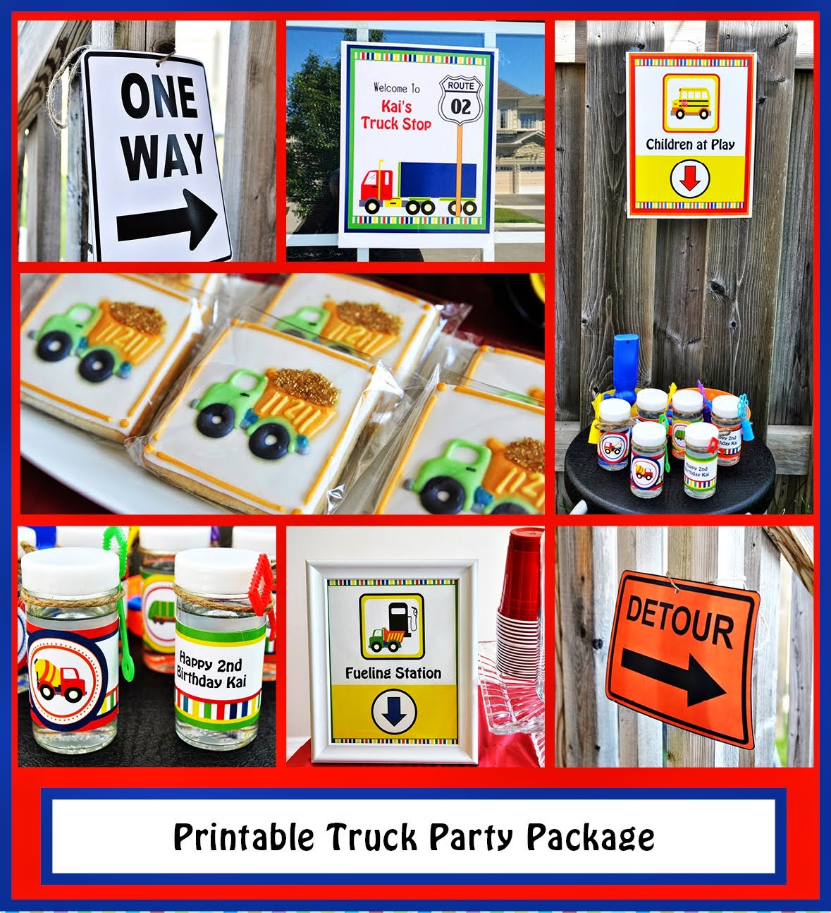 Printable Truck Party Package