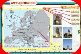 Download Media Pembelajaran IPS Mengenal Benua Di Dunia