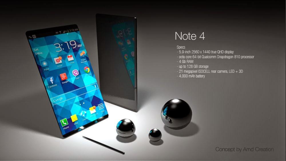 Desain dan Spesifikasi Samsung Galaxy Note 4