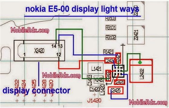 solution of nokia e5 00 lcd light solution if you face this problem