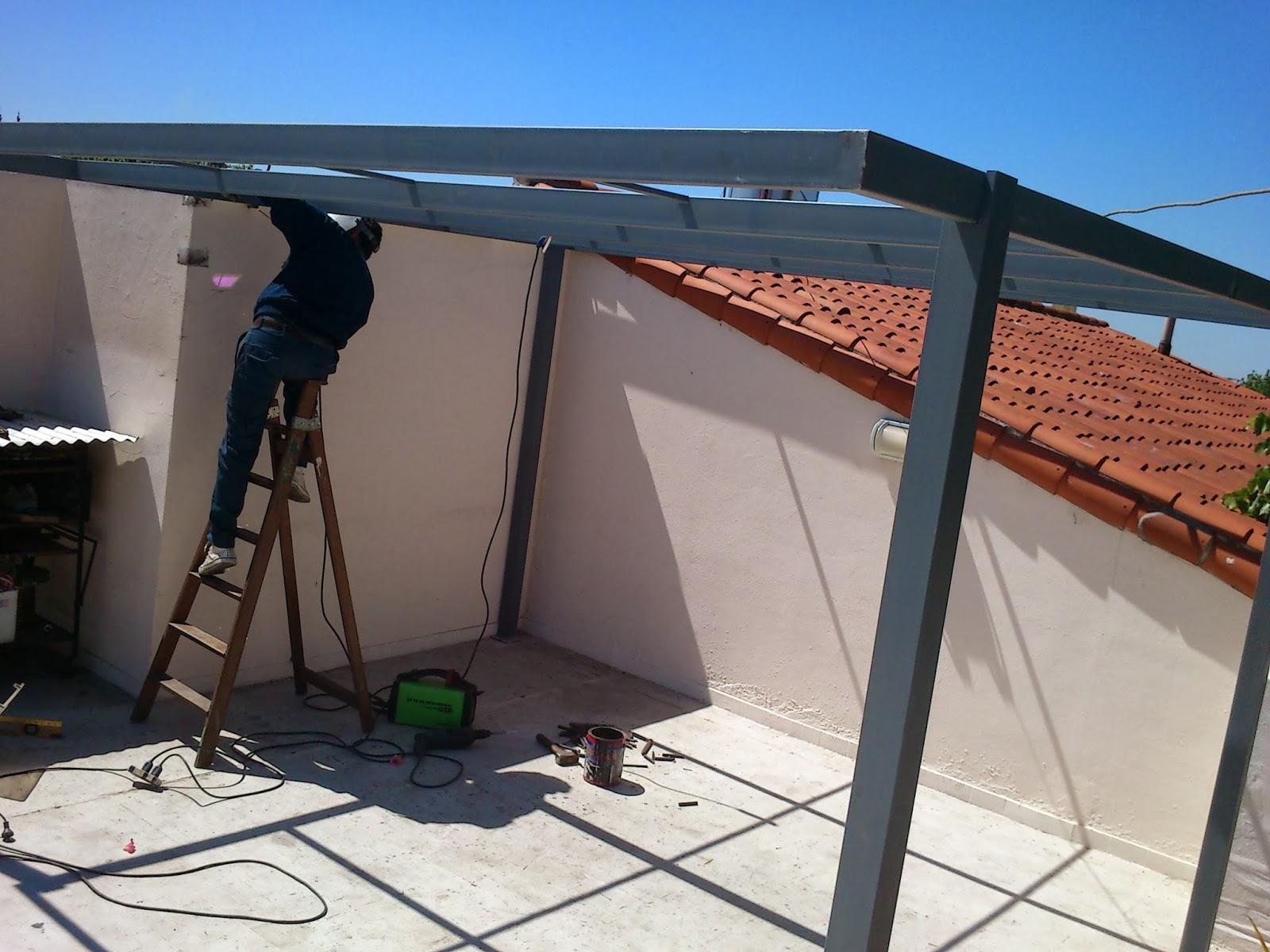 Herreria en obra for Techos de metal para terrazas