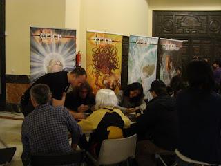 Stand donde estábamos en el encuentro del comic y la ilustración de Sevilla 2011