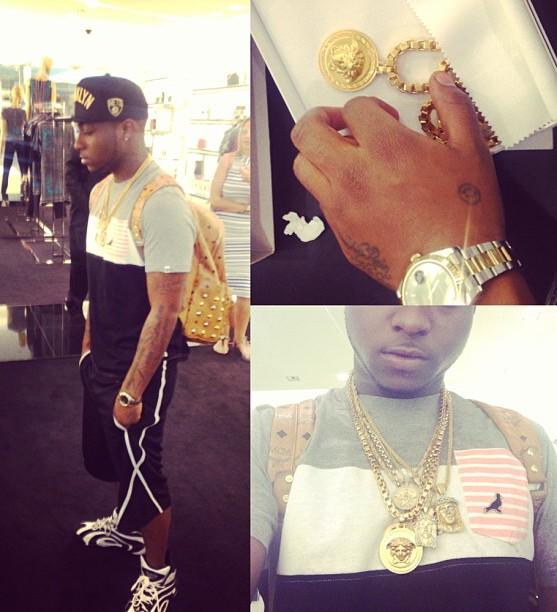 davido versace jewelry