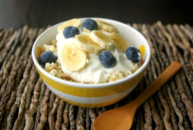 Apple, almond and coconut breakfast bowl