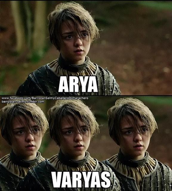 Arya Varyas - Juego de Tronos en los siete reinos