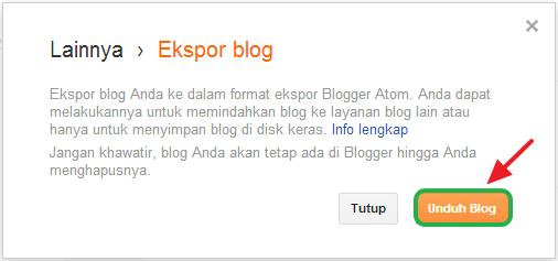 Cara Backup Postingan di Blogspot
